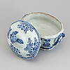 A blue and white tureen with cover, qing dynasty, qianlong (1736 95)