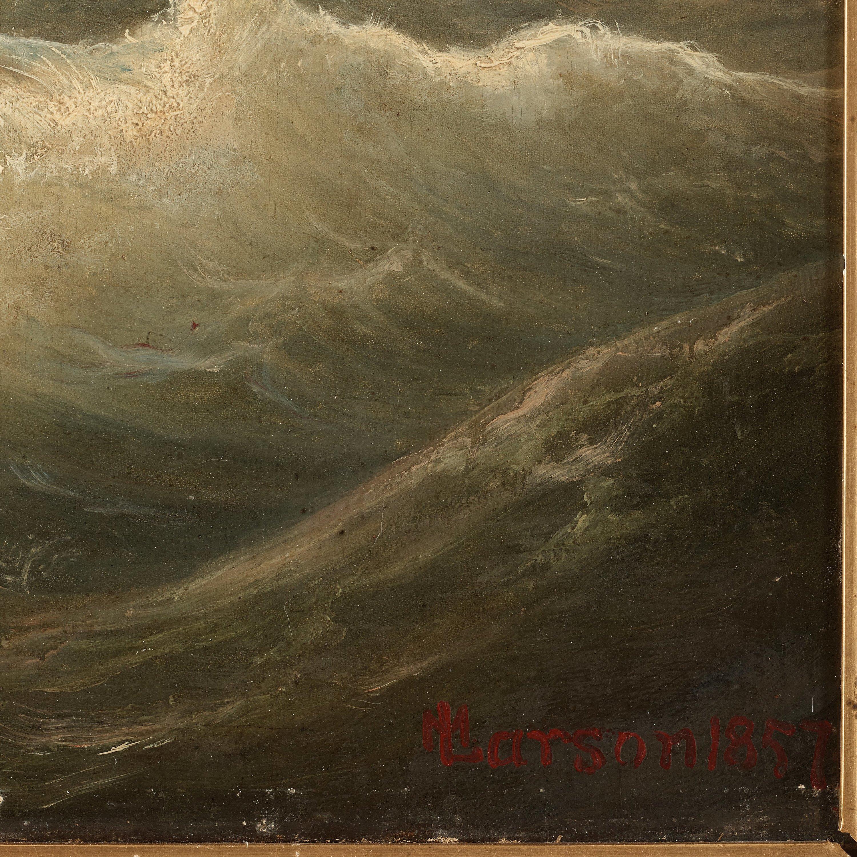 Oil on canvas signed M\u00e9las
