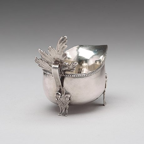 A swedish 18th century parcel gilt cream jug, mark of sven nyberg varberg 1785