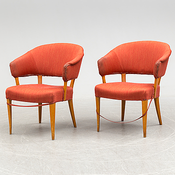 CARL MALMSTEN, A pair of second half of the 20th century 'Laa Greven' easy chairs by Carl Malmsten.