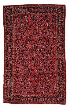 216. A RUG, a semi-antique Kashan, ca 210 x 129,5-134 cm.