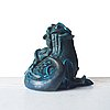Wilhelm kåge, a stoneware sculpture of a dragon puppy, gustavsberg studio, sweden 1940-50's.