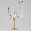 """Piet hein, a """"ursa major"""" brass candelabra, designed 1953"""