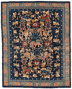 206. A RUG, an antique Beijing Qing probably, China, ca 193 x 156 cm.