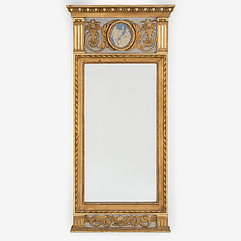 A late gustavian mirror from around year 1800.