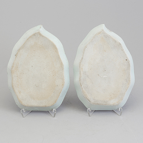 Two blue and white dishes, qingdynasty, 18th century