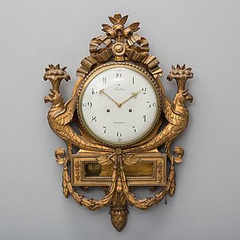 VÄGGPENDYL, sengustavianskt stockholmsarbete, omkring år 1800.