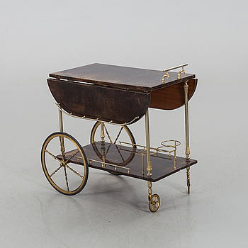 AN ALDO TURA DRINK TROLLEY, mid/second half of 20th century.