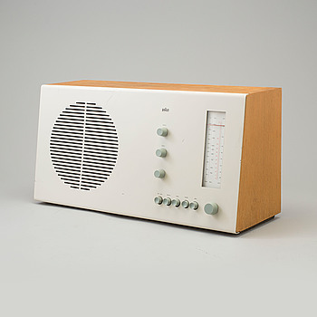 "DIETER RAMS, radio ""Tischsuper -  RT20 S"", designed in 1961."