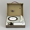 "Dieter rams & wilhelm wagenfeld, resegrammofon ""pc3"", braun, formgiven 1957-58."