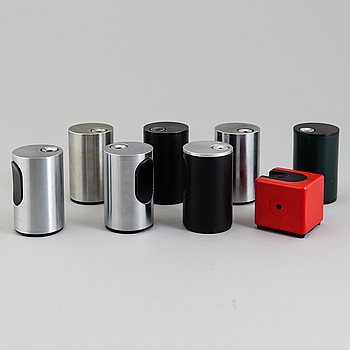 "DIETER RAMS, table lighters, 8st., ""T3"" och ""T2"". Braun 1960-70´s."