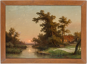 GUSTAV KOKEN, GUSTAV KOKEN, oil on canvas, signed and dated Hanover 1872.