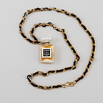 CHANEL, halsband/parfymflaska.
