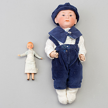 A Doll, Germany, 20th century, possibly Heubach.