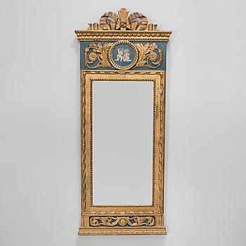A gustavian mirror, 18th century.