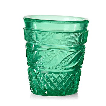 249. GLAS, gröntonat glas. Ryssland, 1800-tal. Kejserliga manufakturen, St Petersburg.