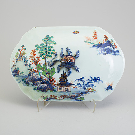An imari verte tureen cover, qing dynasty, qianlong (1736 95)