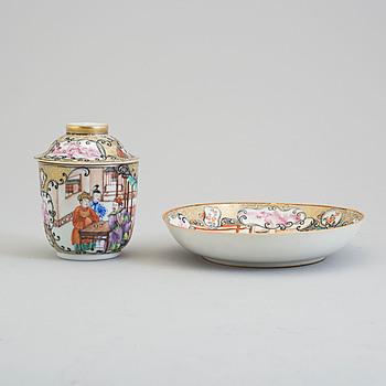 KOPP med LOCK och FAT, kompaniporslin. Qingdynastin, Qianlong (1736-95).