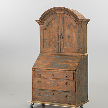 A SECRETAIRE CABINET DATED 1772.