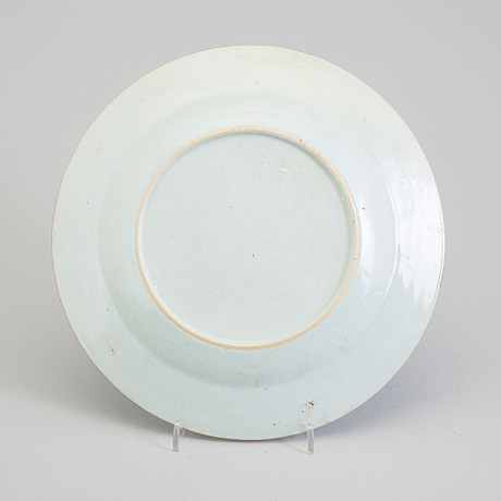 A famille rose 'pseudo tobacco leaf' plate, qing dynasty, qianlong (1736 95)