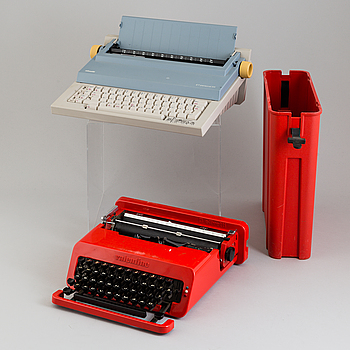 ETTORE SOTTSASS, PERRY A KING & MARIO BELLINI, 2 typewriters.