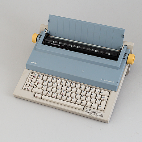 Ettore sottsass, perry a king & mario bellini, skrivmaskiner 2st