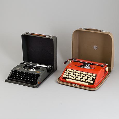 E. paillard & company & wilhelm wagenfeld, skrivmaskiner 2st