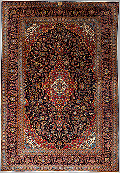 A CARPET, Kashan, around 360 x 246 cm.