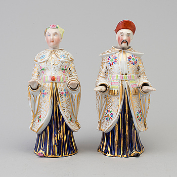Two 20th century porcelin nodding figures, probably Germany.