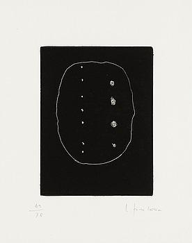 """408. Lucio Fontana, """"Dix eaux-fortes. L'Épée dans l'eau"""" (Alain Jouffroy), from the series; """"Antologia internazionale dell'incisione contemporanea""""."""