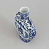 A blue and white porcelain moon flask, qing dynasty, late 19th century