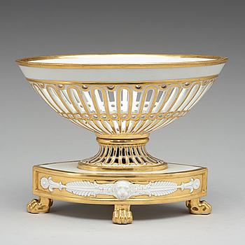 GALLERSKÅL, porslin, Empire, Frankrike, tidigt 1800-tal.