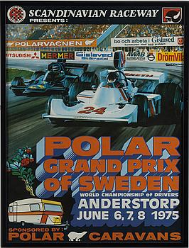 RACINGAFFISCHER, 4 st, originalaffischer för Anderstorp Grand Prix 1973, 74, 75 och 79.