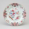 A famille rose export porcelain dish, qing dynasty, qianlong (1736-95).