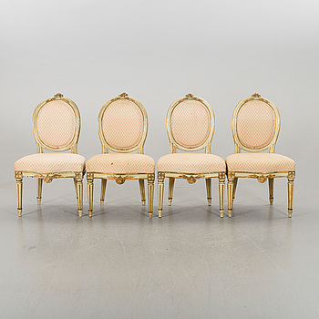FOUR SWEDISH CHAIRS EARLY 20TH CENTURY.