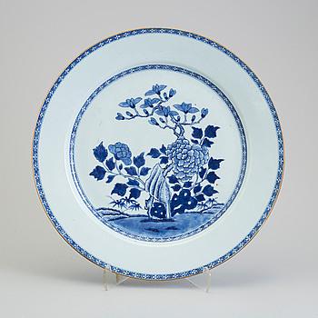 FAT, kompaniporslin. Qingdynastin, Qianlong (1736-95).
