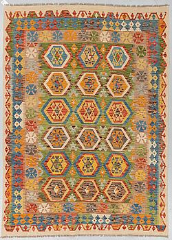 KELIM, orientalisk, ca 242 x 175 cm.