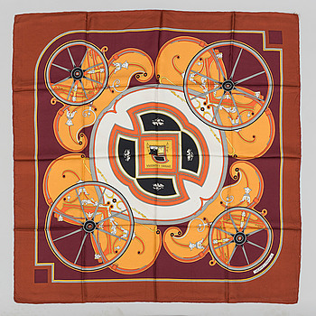 "SCARF, ""Washington carriage"", Hermès."