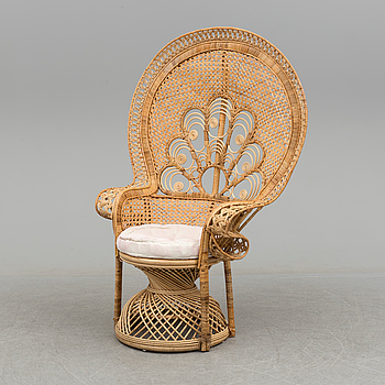 A rattan chair, second half of the 20th century.