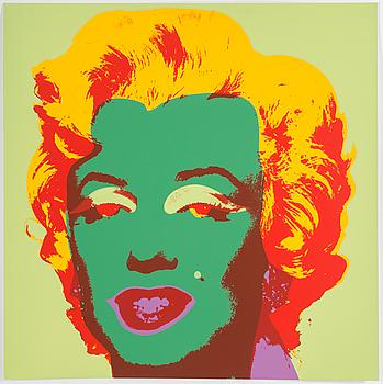 ANDY WARHOL, EFTER, färgserigrafi, utgiven av Sunday B Morning.