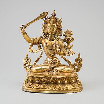 A bronze Buddha figurine, 20th century.