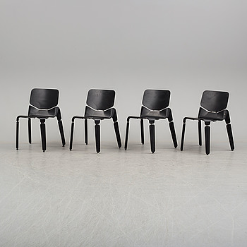 """4 chairs """"Robo"""", by Luca Nichetto for Offect."""