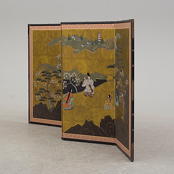 A second half of the 20th century Japanesse folding screen.