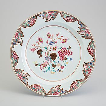 FAT, kompaniporslin. Qingdynastin, 1700-tal.