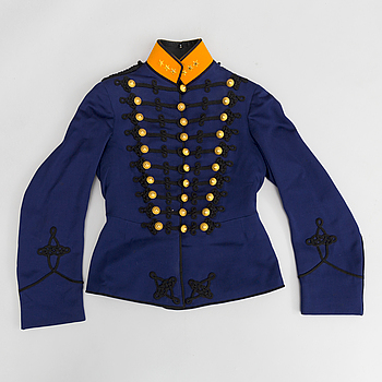 A Swedish artillery officers uniform 1873 pattern.