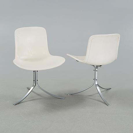 "Poul kjaerholm, 4 stolar, ""pk9"",  fritz hansen, 1980 tal"