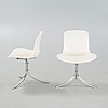 """Four """"pk9/tulip chair"""" chairs, designed by poul kjaerholm, produced by fritz hansen, 1980s."""