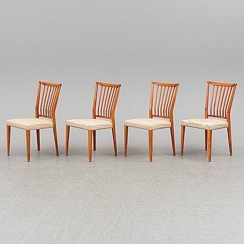 Four second half of the 20th century chairs.