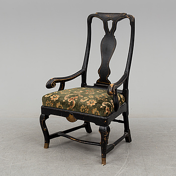KARMSTOL, senbarock-stil, 1800-talets slut.