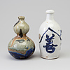 Two japanese ceramic bottles, 20th century